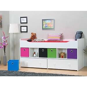 halbhohes bett marianne 90 x 200 bettgestell jugendbett. Black Bedroom Furniture Sets. Home Design Ideas