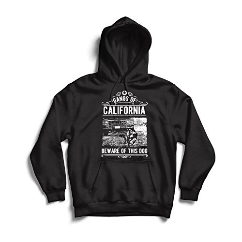 lepni.me Hoodie The Gangs of California - Beware of This Dog! Street Gangster Clothing - Money, Power, Respect!