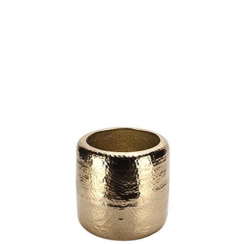 vosteen 99427–25/65 pots, métal, or, 25 x 25 x 25 cm