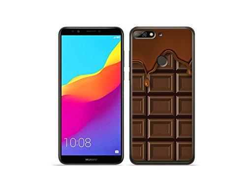 etuo Huawei Honor 7C - Hülle Fantastic Case - Schokolade - Handyhülle Schutzhülle Etui Case Cover Tasche für Handy