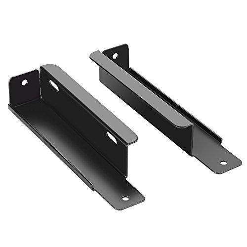 Neewer 2 Stück Pedal Power Leistung Montagehalterung für Voodoo Lab Pedal Netzteil Metall (Schwarz)