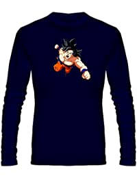 T Shirt - Full Sleeve Round Neck Dragon Ball Z Goku Graphics Printed 100% Cotton T Shirt - Round Logo Of Dragon...