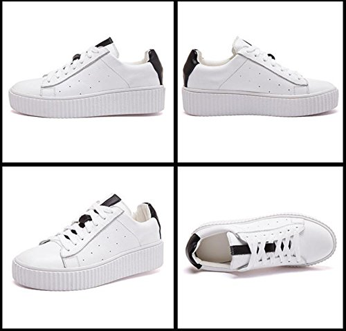 SONGYUNYANEn plein air décontract?College vent cuir coupe-bas féminines chaussures Baskets Mode White