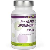 R - Alpha Liponsäure 250mg - 120 Kapseln - Hohe Bioverfügbarkeit - Hochdosiert - Premium Qualität - Made in Germany