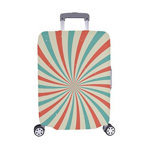 Sonnenlicht-Blaue und rote Farbe platzen Muster Spandex-Trolley Reise-Gepäck-Schutz-Koffer-Abdeckung 28,5 X 20,5 Zoll -