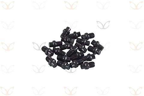 Exotic Ersatz eloxierte Legierung Pedal Pins und gratis Stiftschluessel, 10Farben grau grau
