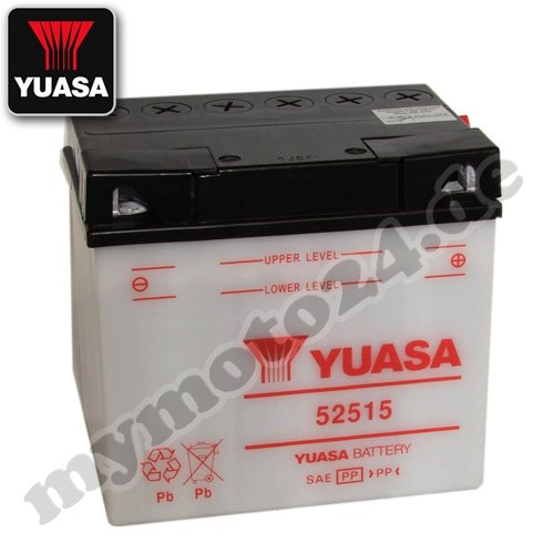 Batteria YUASA 52515, 12V/25AH (dimensioni: 186x 130x 171)