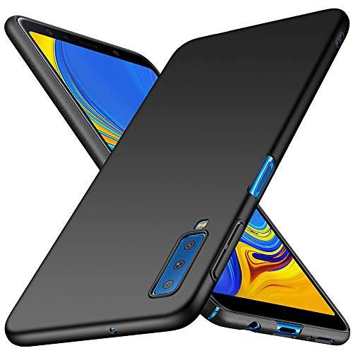 TopACE Cover Galaxy A7 2018 Custodia Galaxy A7 2018 Ultra Sottile Che Cade Superficie Protettiva Opaca Custodia per Galaxy A7 2018 (Nero)