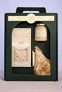 """Confezione regalo """"Il vero gusto del Tartufo"""" 3 pezzi - specialità Umbre IDEA REGALO GOURMET Risotto ai porcini, salsa al pecorino e tartufo, salame al tartufo"""
