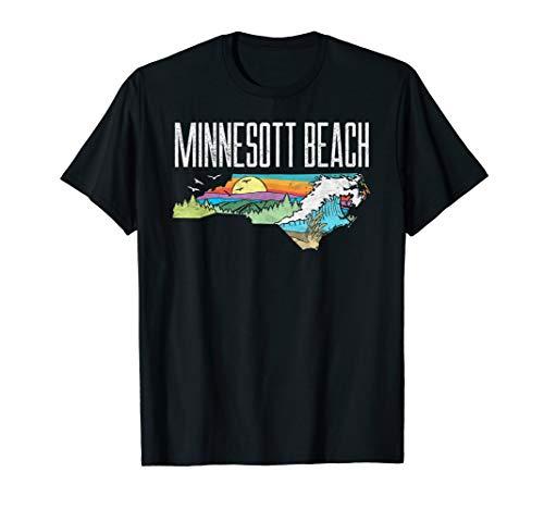 Minnesott Beach State of North Carolina Outdoors  T-Shirt -