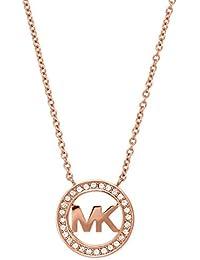 Michael Kors Women's Chain Necklace Stainless Steel Pink & Eaigu; Gold MKJ4734791