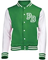 KIDS FRONT INITIAL STEP PERSONALISATION VARSITY JACKET (Kelly Green / White) - By 123t