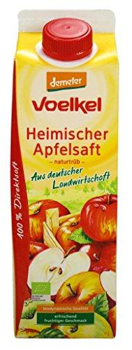 Bio Heimischer Apfelsaft, naturtrüb, 100% Direktsaft, 6 x 1l (Apfelsaft 1 Liter)