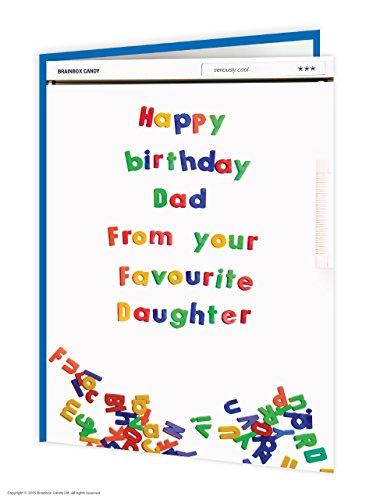 Lustige, humorvolle 'Dad Favourite Daughter' Kühlschrank-Magnet-Geburtstagskarte (Humorvoll Kühlschrank-magnete)
