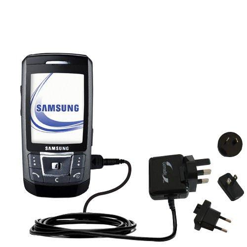Das 10W Wandsteckdosen-Ladegerät International AC kompatibel mit Samsung SGH-D870 Mit TipExchange von Gomadic