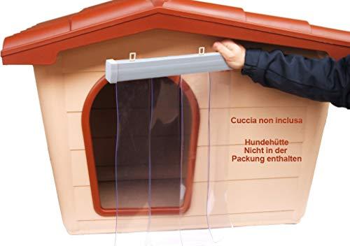 Wärmedämmender Türvorhang für Hundehütte, aus PVC-Kunststoff, transparent, schützt vor Regen, Wind, Insekten, bewegliche Barriere