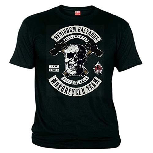 Hells Angels WorldWide Support Store / Big Red Machine World - Hells Angels Benidorm Bastards T-Shirt Support 81 Big Red Machine, Schwarz XXXXXL