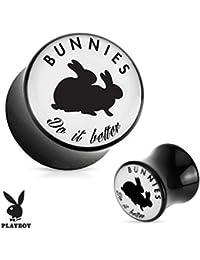 Playboy Adulto conejos patrón negro acrílico sillín enchufe
