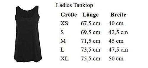Ladies Damen Top Tanktop Sommertop Damentop Unicorn Einhorn Einhornköniginnen sind geboren Schwarz Dezember