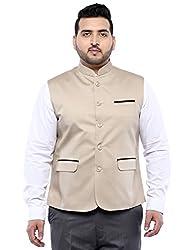 John Pride Beige Sleeveless Nehru Jacket