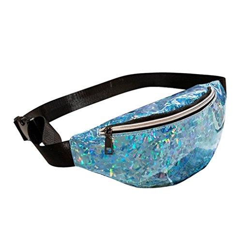 OYSOHE Brusttasche Damen Outdoor Sport Umhängetasche Laser Messenger Tasche by Pink Camouflage Messenger Bag