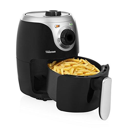 Tristar Heißluftfritteuse/Crispy Fryer mit einstellbarem Thermostat und Timer | ohne Fett-einfach zu reinigen – mit 2 Liter Fassungsvermögen, FR-6980, 2,0 Liter