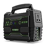 ENKEEO Generador Portátil 155Wh con 6 Puertos (QC3.0/USB/AC/DC), Pantalla LED, Flashlight SOS, Soporta Panel Solar, Estación de Electricidad Banco Energía para Camping, Viaje, Emergencia