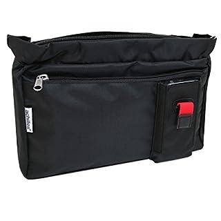 achilles Tasche in der Tasche, Handtaschen Organizer, Innentasche für Handtasche, schwarz 25 x 18,5 x 6 cm
