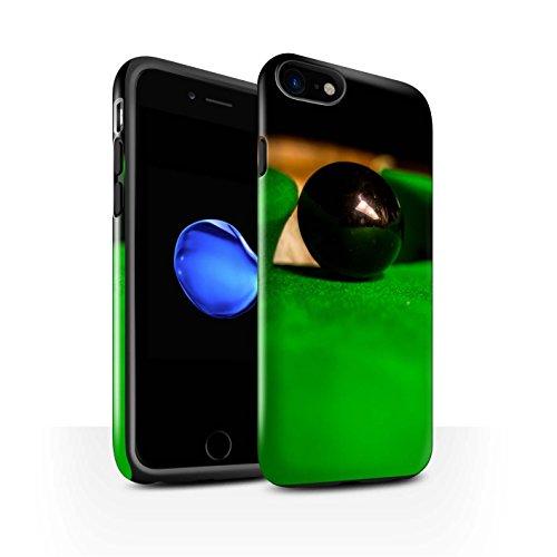 STUFF4 Glanz Harten Stoßfest Hülle / Case für Apple iPhone 8 / Blaue Kugel/Rack/Rosa Muster / Snooker Kollektion Schwarze Kugel/Tasche