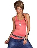 Fashion4Young Damen Sexy Tailliertes Long-Top verfügbar in vielen Farben Gr. 34 36 38