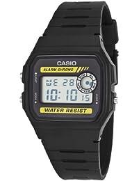 Reloj digital de cuarzo UNISEX CASIO F-94WA-9D - Alarma, Crono, Lux - Caucho negro
