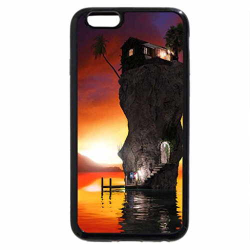 iPhone 3S/iPhone 6 Coque (Noir) Paradis Shore