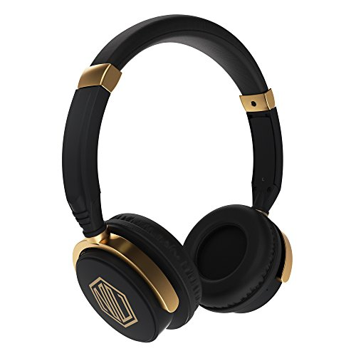 Nu Republic Nu Funx Wireless Headphones with Mic (Black and Gold)
