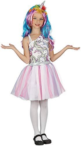 Fancy Me Mädchen Regenbogen-Einhorn mit Perücke, magisches Tier-Weltbuch Tag Woche Kostüm Outfit