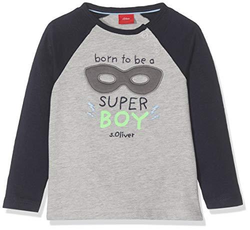 s.Oliver Baby-Jungen 65.908.31.8649 Langarmshirt, Blau (Blue 5952), (Herstellergröße: 92)