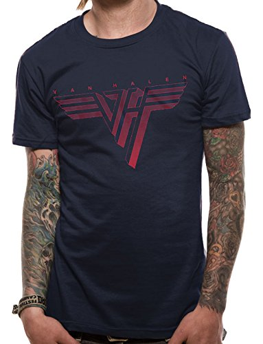 Unknown Van Halen - Classic Logo-T-shirt  Uomo    blu XX-Large