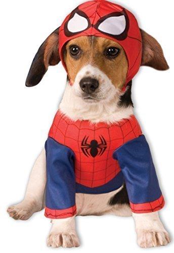 Haustier Hund Katze Spiderman Super Hero Halloween Weihnachtskostüm Outfit Kleidung Geschenk S-XL - (Kostüm Für Katzen Spiderman)