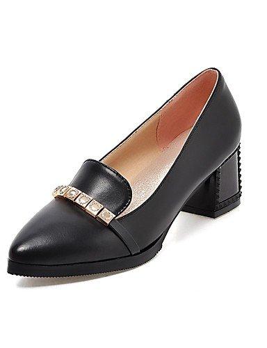 WSS 2016 Chaussures Femme-Bureau & Travail / Décontracté-Noir / Rouge / Beige-Gros Talon-Talons / Bout Pointu-Chaussures à Talons-Polyuréthane black-us9 / eu40 / uk7 / cn41
