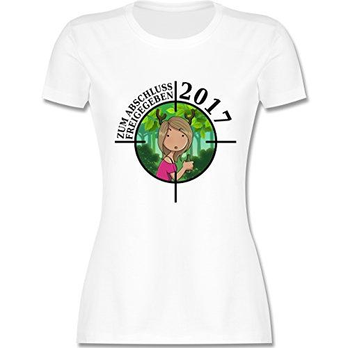 Abi & Abschluss - Zum Abschluss freigegeben 2017 - Mädchen - tailliertes  Premium T-Shirt