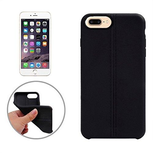 Hülle für iPhone 7 plus , Schutzhülle Für iPhone 7 Plus Central Double Line Glatte Oberfläche Soft TPU Schutzhülle ,hülle für iPhone 7 plus , case for iphone 7 plus ( Color : Apricot ) Black