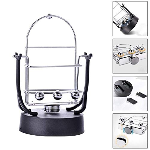 Coogel Desk Toys Rocker Electronic Perpetual Motion Machine Rotary Swing Balance Ball Increase Step Count Toy Kids Mobile Phone Stands mounts Pendulum Balls Physics Holder Newtons Cradle