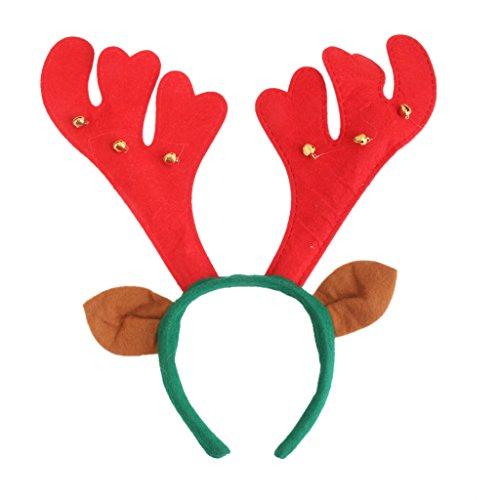 Serre-tête Bois & Oreilles de Renne Fantaisie pour Noël Cadeau