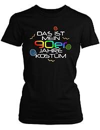 Shirtfun24 Damen DAS IST MEIN 90er JAHRE KOSTÜM Karneval Fasching T-Shirt