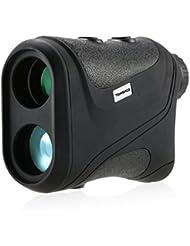 Tomshoo Télémètre Golf  600m / Télémètre Laser Compact 6 x 22 / Télémètre de Chasse Monoculaire / Télescope Distance / Testeur de vitesse