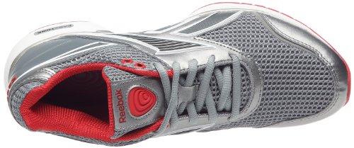 Reebok Easytone Reec, chaussures marche femme Gris/Rouge/Blanc