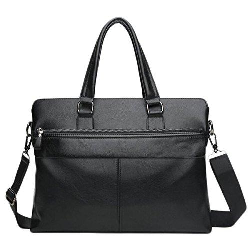 Tracolla In Pelle Da Uomo Messenger Bag Casuale Sacchetto Maschio Borsa Del Computer Cartella Di Affari Sezione Trasversale A