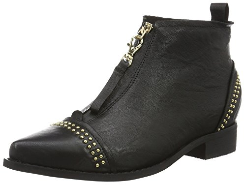 Shoe The Bear Damen Anna Studs Kurzschaft Stiefel Schwarz (110 BLACK)
