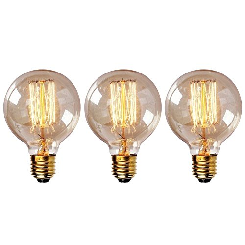 Onepre Retro Filament Dimmable Light Bulb 40W E27 (3 pack)