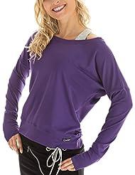Winshape WS2 Tee-shirt à manches longues pour femme Pour loisirs, sport et danse L Violet - dunkel-lila