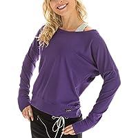 Winshape WS2 - Sudadera de baile o entrenamiento para mujer (diseño de manga larga) morado dunkel-lila Talla:medium